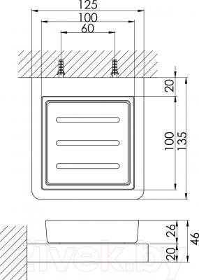 Мыльница Steinberg Series 420.2201 - технический чертеж