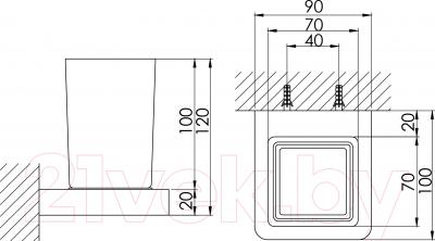 Стакан для зубных щеток Steinberg Series 420.2001 - технический чертеж