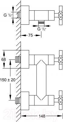 Смеситель Steinberg Series 250.1200 - схема