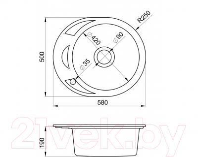 Мойка кухонная Granula GR-5802 (жасмин)