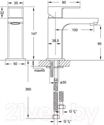 Смеситель Steinberg Triple One 111.1050 - схема
