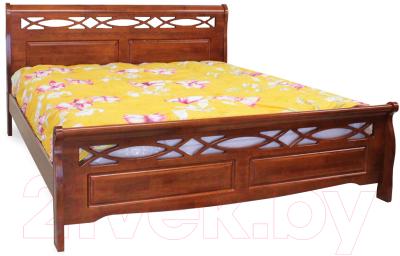 Двуспальная кровать Eurotrend 1.4-966-WSR-BW (дуб)