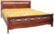 Двуспальная кровать Eurotrend 1.4-966-WSR-BW (дуб) -