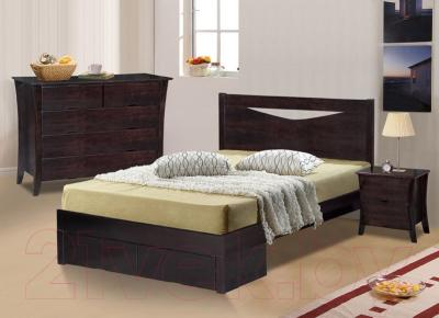 Кровать Eurotrend 1.6-2300-A-FBD-WSR-BW (дуб)