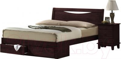 Кровать Eurotrend 1.6-2300-A-FBD-WSR-BW (венге)