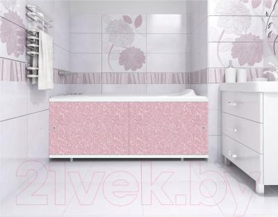 Экран для ванны МетаКам Кварт 1.48 (розовый иней) - вместе с ванной