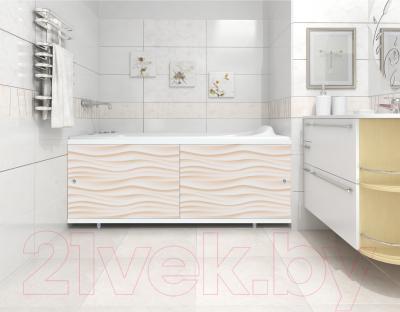 Экран для ванны МетаКам Кварт 1.48 (песочный) - вместе с ванной