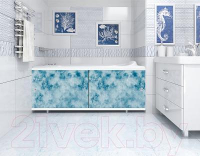 Экран для ванны МетаКам Кварт 1.48 (облака) - вместе с ванной