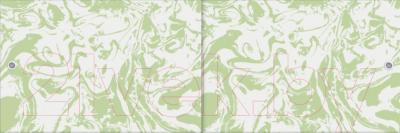 Экран для ванны МетаКам Кварт 1.48 (зеленый мрамор)