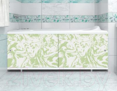 Экран для ванны МетаКам Кварт 1.48 (зеленый мрамор) - вместе с ванной