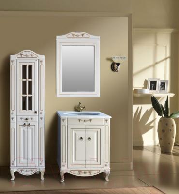 Зеркало для ванной Atoll Полини 65 (патина золото) - в интерьере