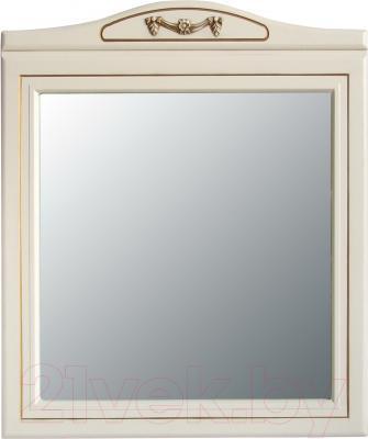 Зеркало для ванной Atoll Полини 85 (патина золото)