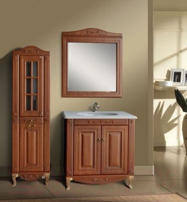 Зеркало для ванной Atoll Полини 85 (патина Луизиана) - в интерьере