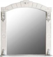 Шкаф с зеркалом для ванной Atoll Александрия 85 (слоновая кость/золото) -