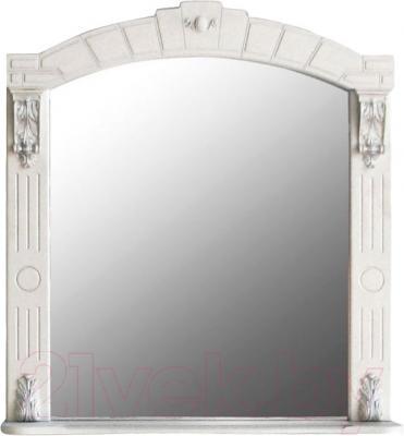 Шкаф с зеркалом для ванной Atoll Александрия 85 (слоновая кость/золото)