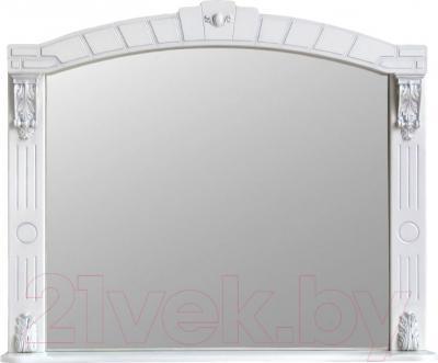 Шкаф с зеркалом для ванной Atoll Александрия 100 (слоновая кость/золото)