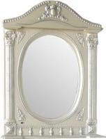 Шкаф с зеркалом для ванной Atoll Наполеон 165 (патина серебро) -