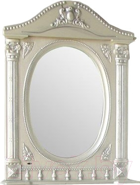 Шкаф с зеркалом для ванной Atoll Наполеон 165 (патина серебро)