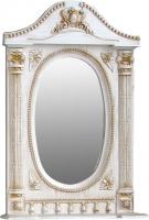 Шкаф с зеркалом для ванной Atoll Наполеон 165 (патина золото) -