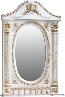 Шкаф с зеркалом для ванной Atoll Наполеон 165 (патина золото)