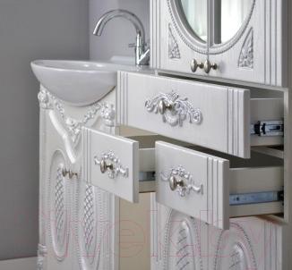 Шкаф для ванной Atoll Наполеон 60 (патина серебро)