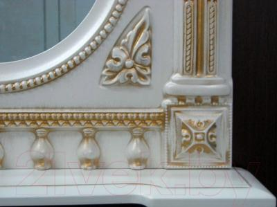 Шкаф с зеркалом для ванной Atoll Наполеон 175 (патина золото)
