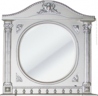 Шкаф с зеркалом для ванной Atoll Наполеон 195 (патина серебро) -