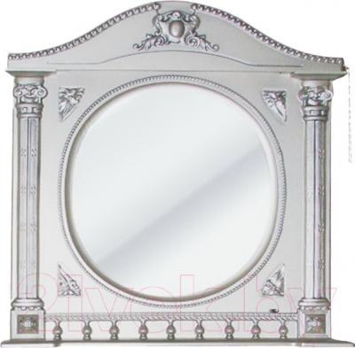 Шкаф с зеркалом для ванной Atoll Наполеон 195 (патина серебро)
