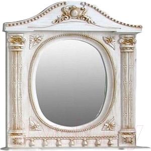 Шкаф с зеркалом для ванной Atoll Наполеон 195 (патина золото)