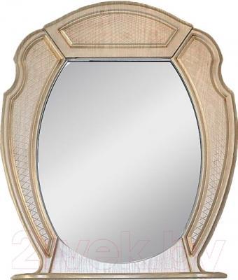 Шкаф с зеркалом для ванной Atoll Тулуза 1 (патина золото)