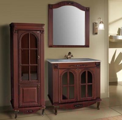 Зеркало для ванной Atoll Венеция (красное дерево)