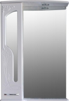 Шкаф с зеркалом для ванной Atoll Барселона 175 (белый глянец) -