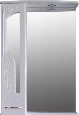 Шкаф с зеркалом для ванной Atoll Барселона 175 (белый глянец)
