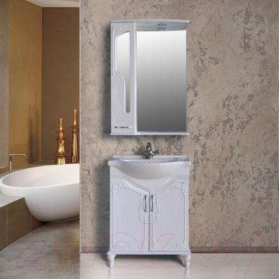 Шкаф с зеркалом для ванной Atoll Барселона 175 (белый глянец) - в интерьере