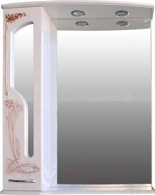 Шкаф с зеркалом для ванной Atoll Барселона 185 (патина медь)