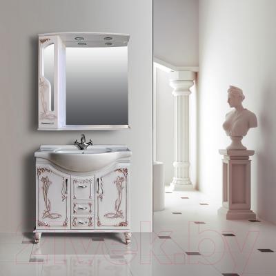 Шкаф с зеркалом для ванной Atoll Барселона 185 (патина медь) - в интерьере