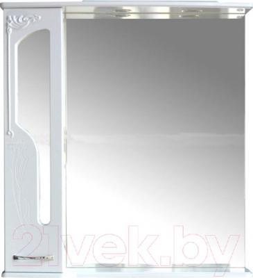 Шкаф с зеркалом для ванной Atoll Барселона 185 (белый глянец)