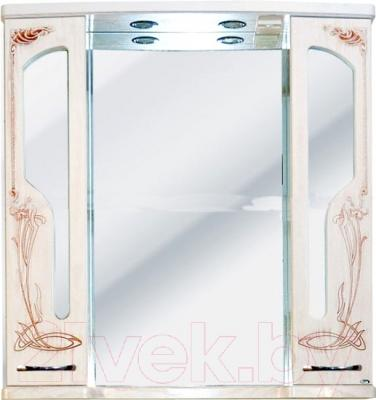 Шкаф с зеркалом для ванной Atoll Барселона 195 (патина медь)