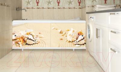 Экран для ванны МетаКам Ультра легкий Арт 1.48 (дары моря) - вместе с ванной
