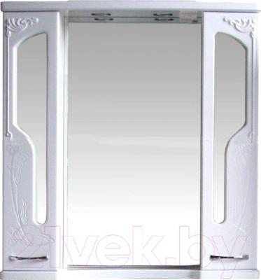Шкаф с зеркалом для ванной Atoll Барселона 195 (белый глянец)