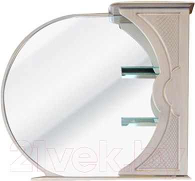 Шкаф с зеркалом для ванной Atoll Корсика 185 (белое дерево)