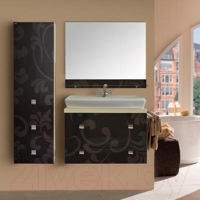Шкаф-полупенал для ванной Atoll Калифорния 40 (орнамент)