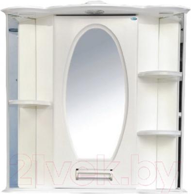 Шкаф с зеркалом для ванной Atoll Сиэтл 1 (белый)