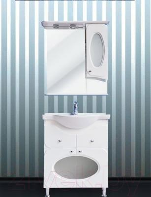 Шкаф с зеркалом для ванной Atoll Лион 1 (белый)