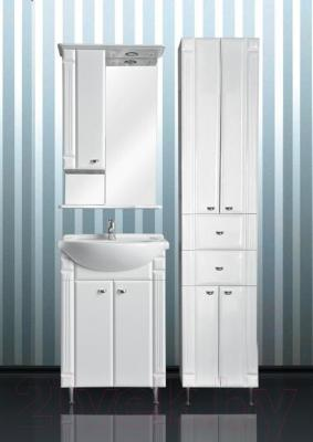 Шкаф с зеркалом для ванной Atoll Ливерпуль 155 (белый) - комплект мебели Ливерпуль 55