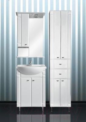 Шкаф с зеркалом для ванной Atoll Ливерпуль 165 (белый) - комплект мебели Ливерпуль 65