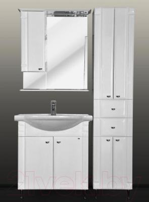 Шкаф с зеркалом для ванной Atoll Ливерпуль 175 (белый) - комплект мебели Ливерпуль 75