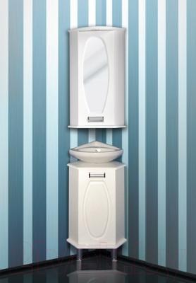 Шкаф с зеркалом для ванной Atoll Генуя 1 (угловой) - комплект мебели Генуя
