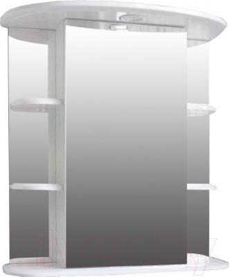 Шкаф с зеркалом для ванной Atoll Капри 3Н (белый)