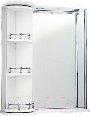 Шкаф с зеркалом для ванной Atoll Милан (белый)